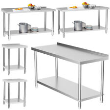 More details for commercial-grade top work table kitchen workbench 60-180cm 2-6ft stainless steel