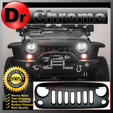 07-16 Jeep JK Wrangler Front Hood Matte Black Replacement Grille Shell All Model