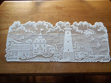 HERITAGE LACE IVORY/CREAM LIGHTHOUSE  RUNNER 14X35 BEAUTIFUL ITEM 2785