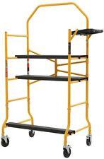 Job Site Rolling Scaffold Platform 900 lb Load Capacity Heavy Duty Tool Shelf