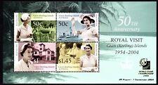Cocos (Keeling) Islands 2004 Royal Visit Mini Sheet O'printed Singapore 2004 MUH