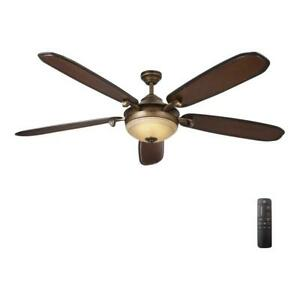 HDC Amaretto 70 in. LED Indoor French Beige Ceiling Fan w/Light Kit & Remote C.