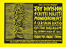 More details for joy division poster - live at electric ballroom london 79 new reprinted edition