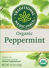 TEA PEPPERMINT ORGANIC Traditional Medicinals, (16 bags x 5 boxes) FAST Ship