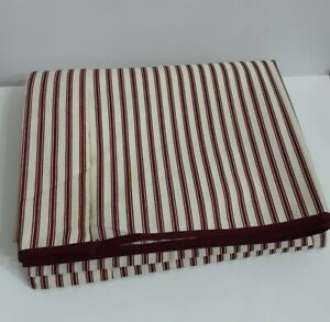 Vintage Springmaid Red Stripes Flat Sheet Twin No Iron Percale New