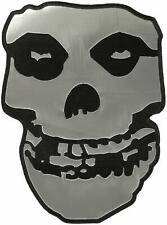 """Misfits Skull - Silver Vinyl with Embroidered Edges Back Patch 7.1"""" x 10"""""""