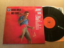 JOHNNY CASH - BLOOD ,SWEAT AND TEARS LP ORIG 1964 CBS 62119 UK 1st PRESSING  N/M