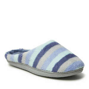 Dearfoams Women's Leslie Quilted Microfiber Terry Clog Slipper Size L 9 - 10