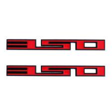 2x Red Black Metal 350 Car Door Side Fender Rear Trunk Emblem Badge SBC 350 5.7