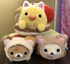 San-XRilakkuma Korilakkuma Kiiroitori Bakery Plush Cat Plush Set Of 3
