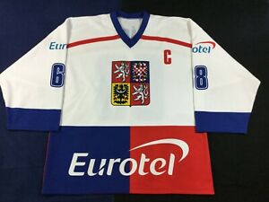 Olympics Team Czech Republic Jaromir Jagr #68 Hockey Jersey SizeXL