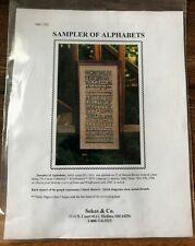 Sekas & Co. Sampler Of Alphabets Cross Stitch Chart w/028 Purple Majestic Floss