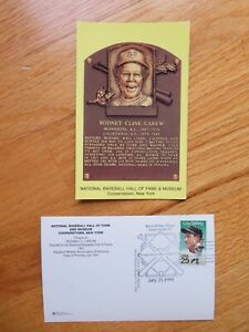 ROD CAREW Induction HALL OF FAME Plaque July 21, 1991 CANCELED Stamp TWINS