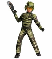 Operation Rapid Strike Red Sector Foot Soldier Classic Muscle Boys Costume L