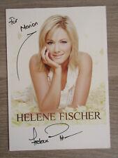 Helene Fischer original handsignierte Autogrammkarte mit Widmung / Musik T1