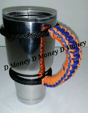 Paracord Handle for 40oz, 30oz or  20oz  YETI, SIC, Ozark, Rtic Fl Gators Colors