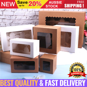 Cupcake Box Cases 2/4/6/12 holes clear Window Cupcake Display Boxes Muffin Cups
