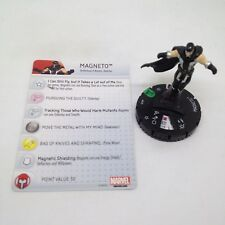 Heroclix Uncanny X-Men set Magneto #029 Uncommon figure w/card!