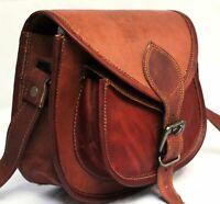 "New 7""-13"" Women Vintage Brown Leather Messenger Cross Body Bag Handmade Purse"