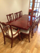 Mahogany extending dining table set 8chairs