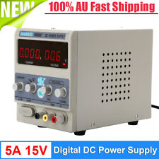 15V 5A Adjustable Variable Regulated Digital DC Power Supply Precision AU Plug