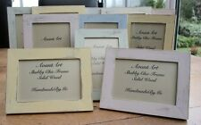 Handmade Wood Photo/Picture Frame ShabbyChic/Vintage/Rustic  6 Colours 3 Sizes