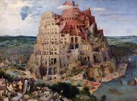 PAINTING LANDSCAPE RELIGION ALLEGORY BRUEGEL TOWER BABEL POSTER PRINT BB12518A