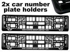 2 x Doming CAR Number Plate Surround Holder Frames BEST FIT for MINI COOPER