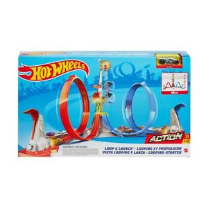 Hot Wheels Loop & Launch Track Set For Kids Toys Christmas Birthday Gift Item F4