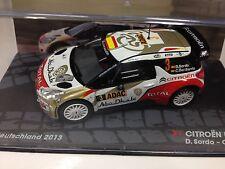 IXO 1:43 CITROËN DS3 WRC DEUTSCHLAND 2013 SORDO- RALLY MODEL CAR SCALE