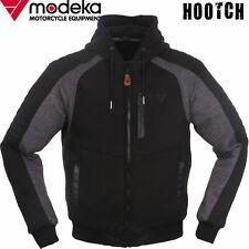 MODEKA Motorrad-Hoodie HOOTCH schwarz grau Blouson-Fit Kapuze Protektoren Gr. M