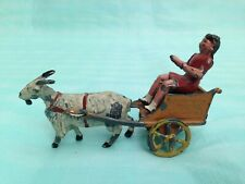 Vintage Pre War Charbens Girl Riding in Goat Cart 1928