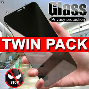 2X Anti Spy Privacy Tempered Glass Screen Protector iPhone 12 13 Pro Max Mini XR