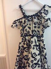 Topshop Navy Cream Dress - UK 10/eu 38/us 6 With Tags