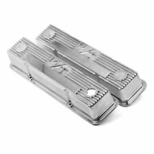 Holley 241-82 M/T Valve Covers Polished for Chevy Small Block Engines NEW