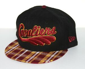 Cleveland Cavaliers Team Plaid Hat New Era 9Fifty Snapback Cap Black NWT