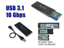 "Caja Aluminio USB 3.1 M2 - 10G Para SSD M.2 NGFF Tipo ""SATA"" solamente"