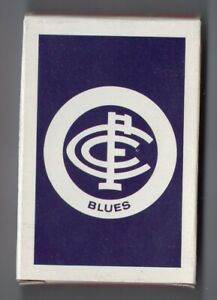 #O.002 Vintage Swap / Playing Card OPENED DECK, VFL, AFL, Carlton Blues