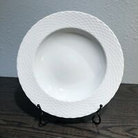 "Pillivuyt Basketweave France White Porcelain 9"" Salad Bowl Williams-Sonoma 191"