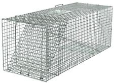 Live Animal Trap Racoon Skunk Rabbit Dog Cat Steel Cage Collapsible Humane Large
