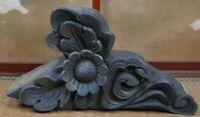 Antique Japanese temple architecture ornamental roof tiles Kawara 1800s Japan