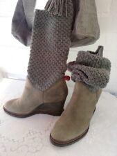 NEU * Marc O Polo Damen Stiefel Winterstiefel Boots grau gefüttert leicht