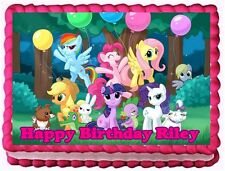 MY LITTLE PONY EDIBLE CAKE TOPPER BIRTHDAY DECORATIONS