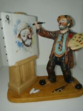 """The Original Emmett Kelly Circus Collection Rare """"Self Portrait"""" numbered 3205"""