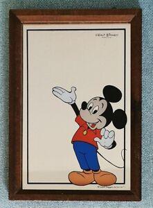 Vintage Micky Maus Spiegel * Walt Disney 1970er Jahre * Aspell Saggers & Co. Ltd