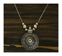 Indian German Silver Oxidized Boho Bollywood Afghani Statement Necklace Jewelry