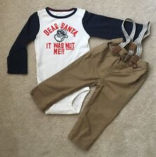 "Oshkosh Baby Boy's 24 Months ""Dear Santa it was not me"" One Piece & Pants Outfit"