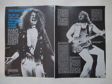 Nazareth Dan McCafferty Peter Agnew Jan Akkerman Focus clippings Sweden 1970s