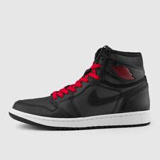 Nike Air Jordan Retro I 1 HIGH OG Black Satin Gym Red 555088-060 Men&GS 4y-14