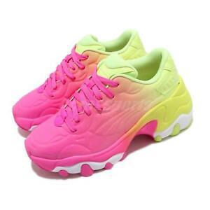 Puma Pulsar Wedge Wns Luminous Pink Fizzy Yellow Women Chunky Casual 373043-02